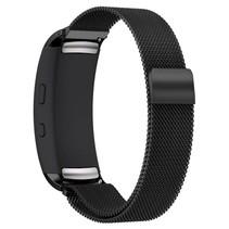 Milanese horloge bandje met magneetsluiting voor Samsung Gear Fit 2 - Zwart