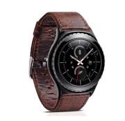 """REBL """"Crazy Horse"""" Lederen armband voor Samsung Gear S3 Classic / S3 Frontier - Koffie / Bruin"""
