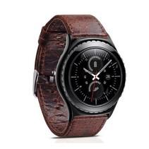 """""""Crazy Horse"""" Lederen armband voor Samsung Gear S3 Classic / S3 Frontier - Koffie / Bruin"""