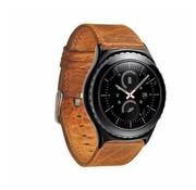 """REBL """"Crazy Horse"""" Lederen armband voor Samsung Gear S3 Classic / S3 Frontier - Lichtbruin"""