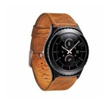"""""""Crazy Horse"""" Lederen armband voor Samsung Gear S3 Classic / S3 Frontier - Lichtbruin"""