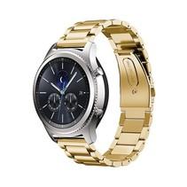 Metalen armband voor Samsung Gear S3 Classic / S3 Frontier - Goud
