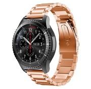 REBL Metalen armband voor Samsung Gear S3 Classic / S3 Frontier - Rose Goud