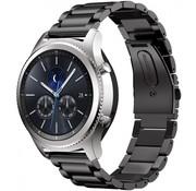 REBL Metalen armband voor Samsung Gear S3 Classic / S3 Frontier - Zwart