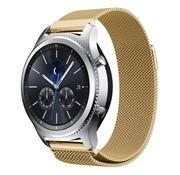 REBL Milanese watchband met magnetische sluiting voor de Samsung Gear S3 Frontier / S3 Classic- Goud