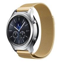 Milanese watchband met magnetische sluiting voor de Samsung Gear S3 Frontier / S3 Classic- Goud