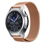 REBL Milanese watchband met magnetische sluiting voor de Samsung Gear S3 Frontier / S3 Classic- Rose Goud