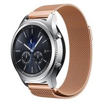 Milanese watchband met magnetische sluiting voor de Samsung Gear S3 Frontier / S3 Classic- Rose Goud