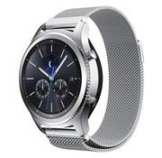 REBL Milanese watchband met magnetische sluiting voor de Samsung Gear S3 Frontier / S3 Classic- Zilver