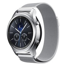Milanese watchband met magnetische sluiting voor de Samsung Gear S3 Frontier / S3 Classic- Zilver