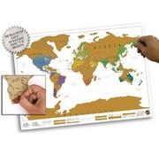 REBL ScratchMap wereldkaart 88x52 (Scratch Map/Kraskaart)