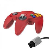 N64 | Nintendo 64 controller met originele aansluiting | 1 stuk | Rood