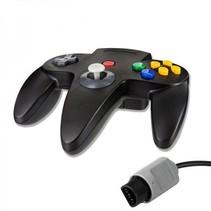 N64 | Nintendo 64 controller met originele aansluiting | 1 stuk | Zwart