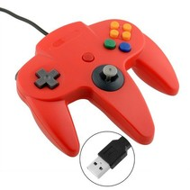 N64 | Nintendo 64 controller met USB aansluiting voor o.a. je Raspberry Pi| 1 stuk | Rood