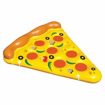 Grote opblaasbare pizza punt zwemband - 180 CM