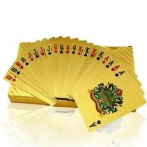 Luxe Gouden Speelkaarten / Poker kaarten - Geplastificeerd