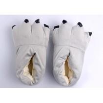 Grijze poot pantoffels - Leuke Grijze sloffen passen perfect bij de jouw Onesie - One sieze fits most