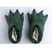 REBL Groene poot pantoffels - Leuke Groene sloffen passen perfect bij de Groene Draak Onesie - One sieze fits most