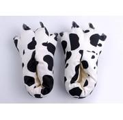 REBL Zwart Witte Koeien poot pantoffels - Leuke Koeien sloffen passen perfect bij de Koeien Onesie - One sieze fits most