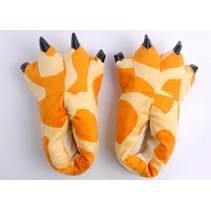Oranje Leeuwen poot pantoffels - Leuke Leeuwen sloffen passen perfect bij jouw Onesie - One sieze fits most