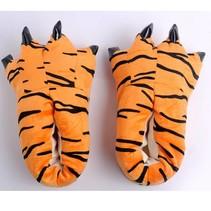 Tijger poot pantoffels - Leuke sloffen met tijgerprint