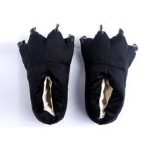 Zwarte poot pantoffels - Leuke Zwarte sloffen passen perfect bij jouw Onesie - One sieze fits most