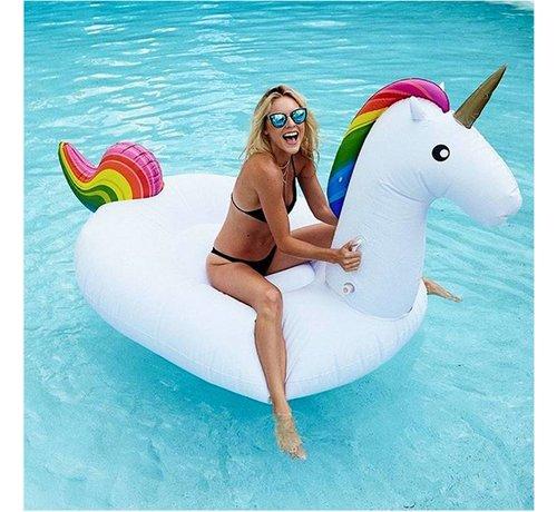 REBL XXL Opblaasbare Unicorn / Eenhoorn - Zwemband / Luchtbed van 240cm