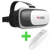 VR BOX VR BOX VR Bril + Bluetooth Remote Control - White