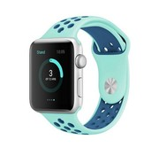 REBL Siliconen Sport + bandje voor de Apple Watch  - Turquoise / Blauw