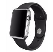 REBL Siliconen sport polsbandje voor de Apple Watch - Zwart