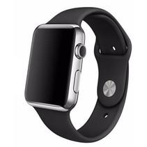 Siliconen sport polsbandje voor de Apple Watch - Zwart