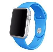 REBL Siliconen sport polsbandje voor de Apple Watch - Blauw