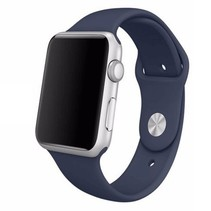 Siliconen sport polsbandje voor de Apple Watch - Midnight Blauw
