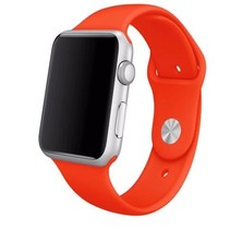 Siliconen sport polsbandje voor de Apple Watch - Oranje