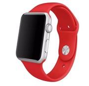 REBL Siliconen sport polsbandje voor de Apple Watch - Rood