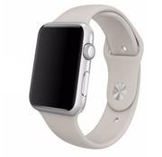 REBL Siliconen sport polsbandje voor de Apple Watch - Steen Grijs