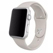 Siliconen sport polsbandje voor de Apple Watch - Steen Grijs