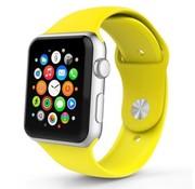 REBL Siliconen sport polsbandje voor de Apple Watch - Geel