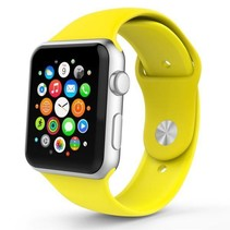 Siliconen sport polsbandje voor de Apple Watch - Geel