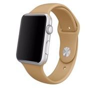 REBL Siliconen sport polsbandje voor de Apple Watch - Walnoot Bruin