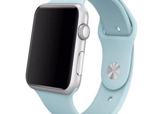 REBL Siliconen sport polsbandje voor de Apple Watch - Turquoise