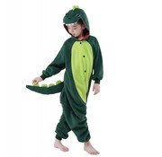 REBL Groene Draak Onesie voor kinderen - Groene Draak Kigurumi Pyjama