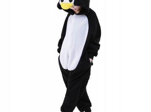 REBL Pinguin Onesie voor kinderen - Pinguin Kigurumi Pyjama