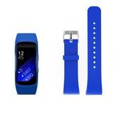 REBL Siliconen polsbandje voor de Samsung Gear Fit 2 SM-R360 met gespsluiting  - Blauw