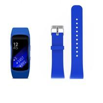 Siliconen polsbandje voor de Samsung Gear Fit 2 SM-R360 met gespsluiting  - Blauw