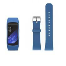 Siliconen polsbandje voor de Samsung Gear Fit 2 SM-R360 met gespsluiting  - Blauw / Grijs