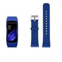 Siliconen polsbandje voor de Samsung Gear Fit 2 SM-R360 met gespsluiting  - Donkerblauw