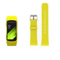 Siliconen polsbandje voor de Samsung Gear Fit 2 SM-R360 met gespsluiting  - Geel