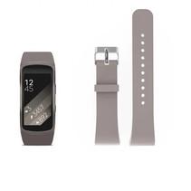 Siliconen polsbandje voor de Samsung Gear Fit 2 SM-R360 met gespsluiting  - Khaki