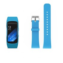 Siliconen polsbandje voor de Samsung Gear Fit 2 SM-R360 met gespsluiting  - Lichtblauw